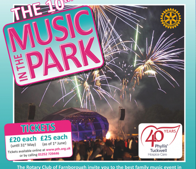 Phyllis Tuckwell's Music in the Park tickets now on sale!