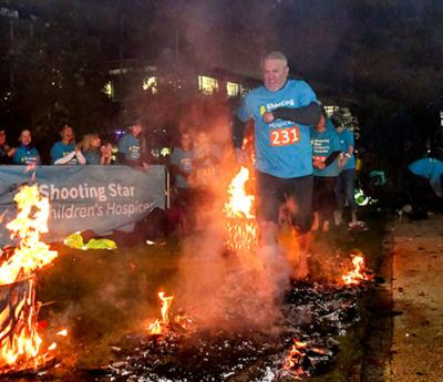 With a spark of courage hot-stepping heroes took on the Fire Walk